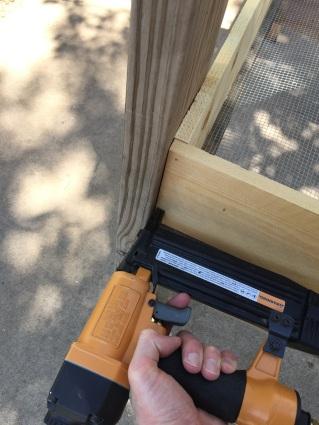 Sides with nail gun